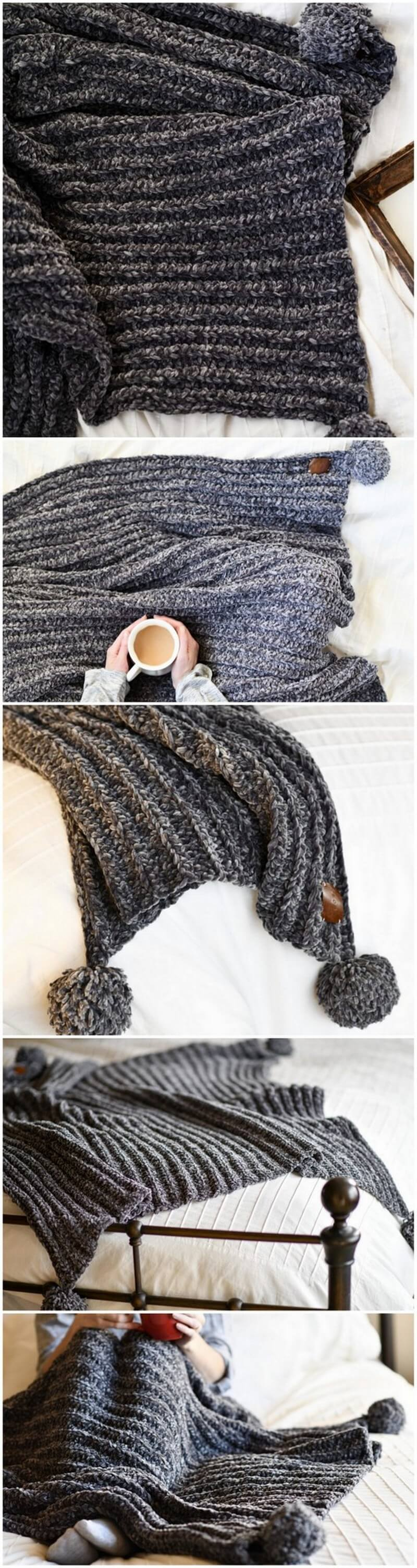 Easy Crochet Blanket Pattern (40)