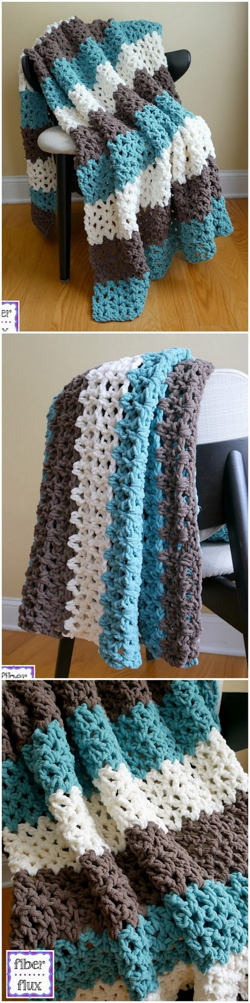 Easy Crochet Blanket Pattern (48)