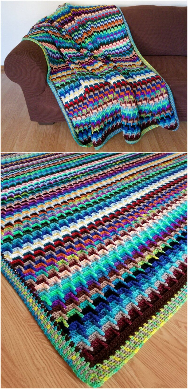 Easy Crochet Blanket Pattern (52)