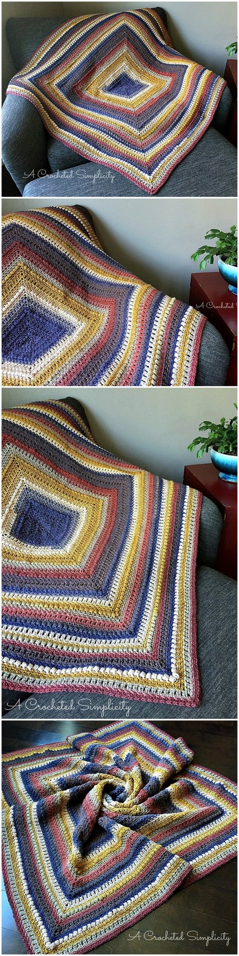 Easy Crochet Blanket Pattern (54)