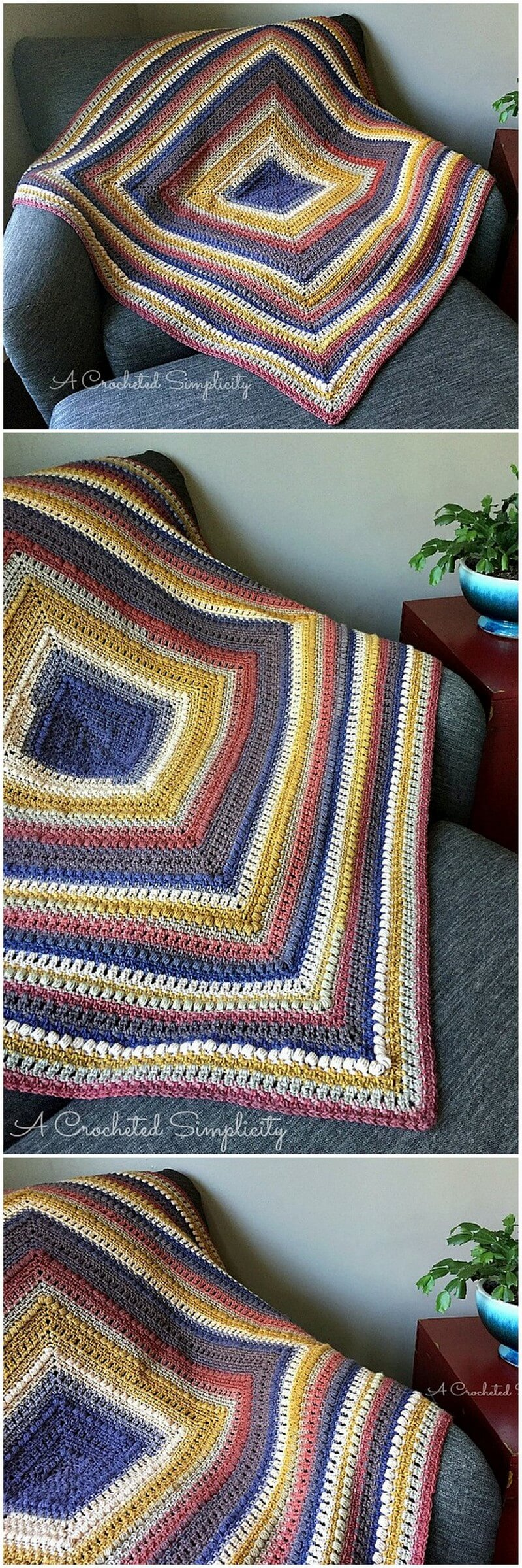 Easy Crochet Blanket Pattern (55)