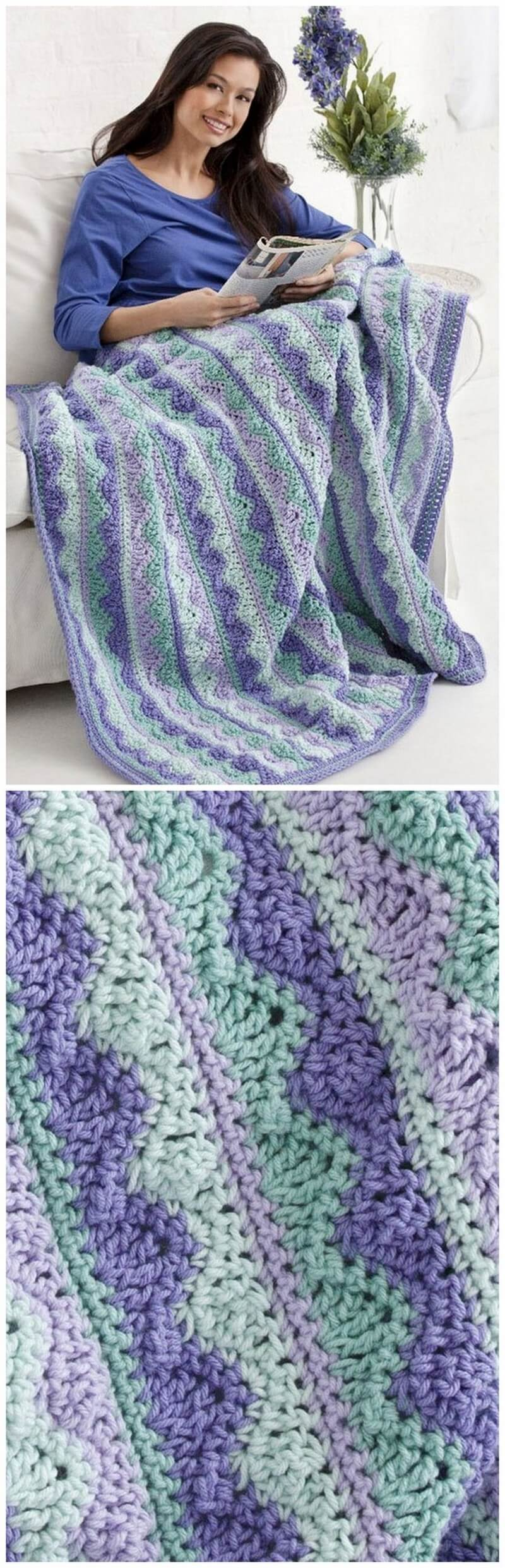 Easy Crochet Blanket Pattern (56)