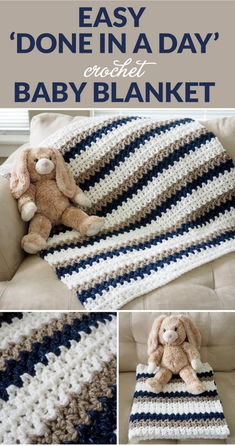 Easy Crochet Blanket Pattern (57)