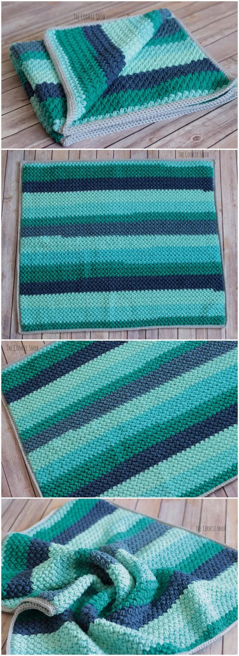 Easy Crochet Blanket Pattern (7)