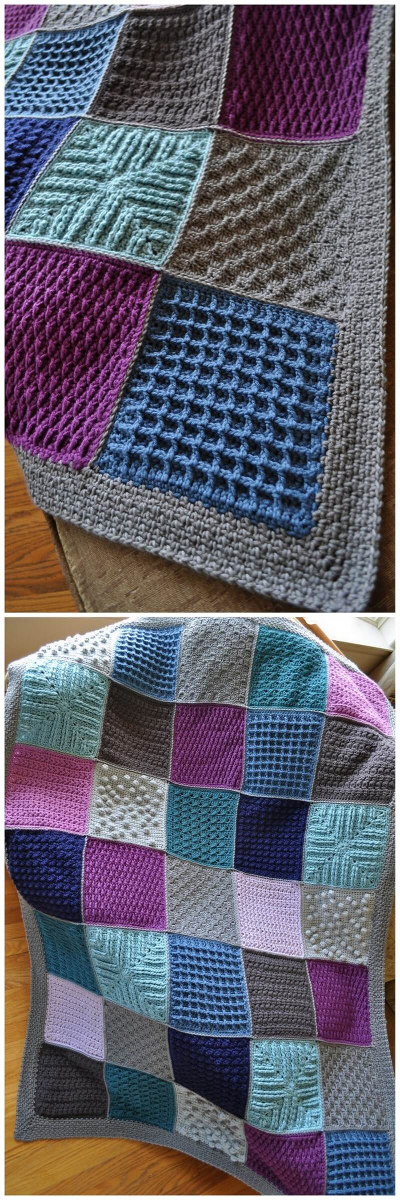 Easy Crochet Blanket Pattern (8)