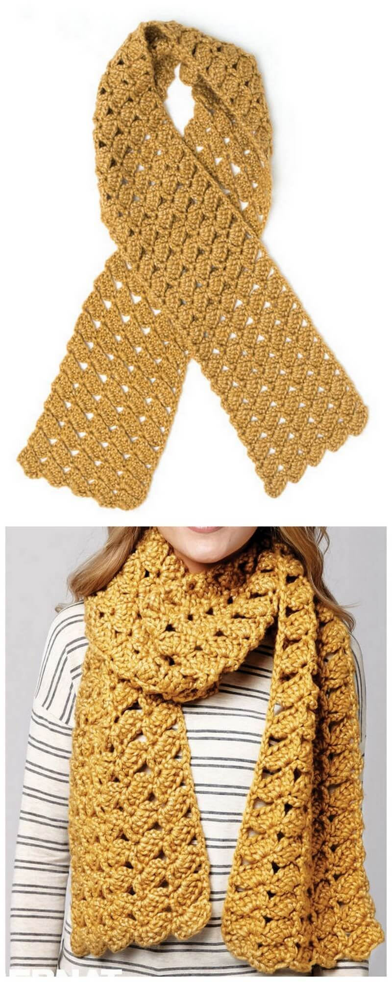 Easy Crochet Scarf Pattern (14)