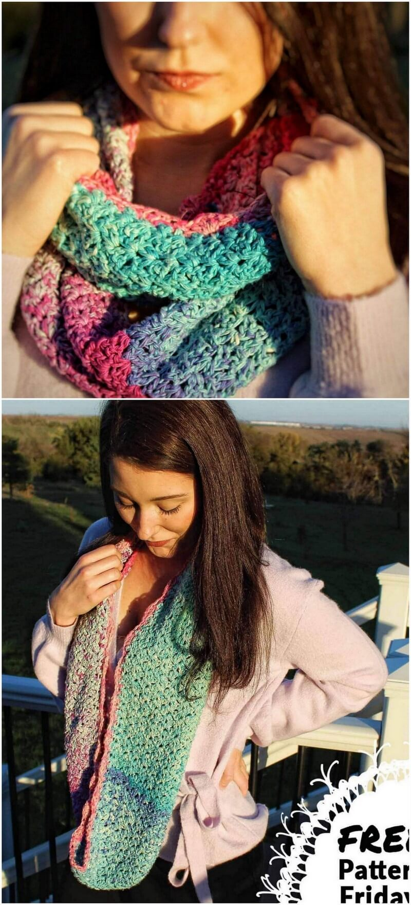 Easy Crochet Scarf Pattern (15)
