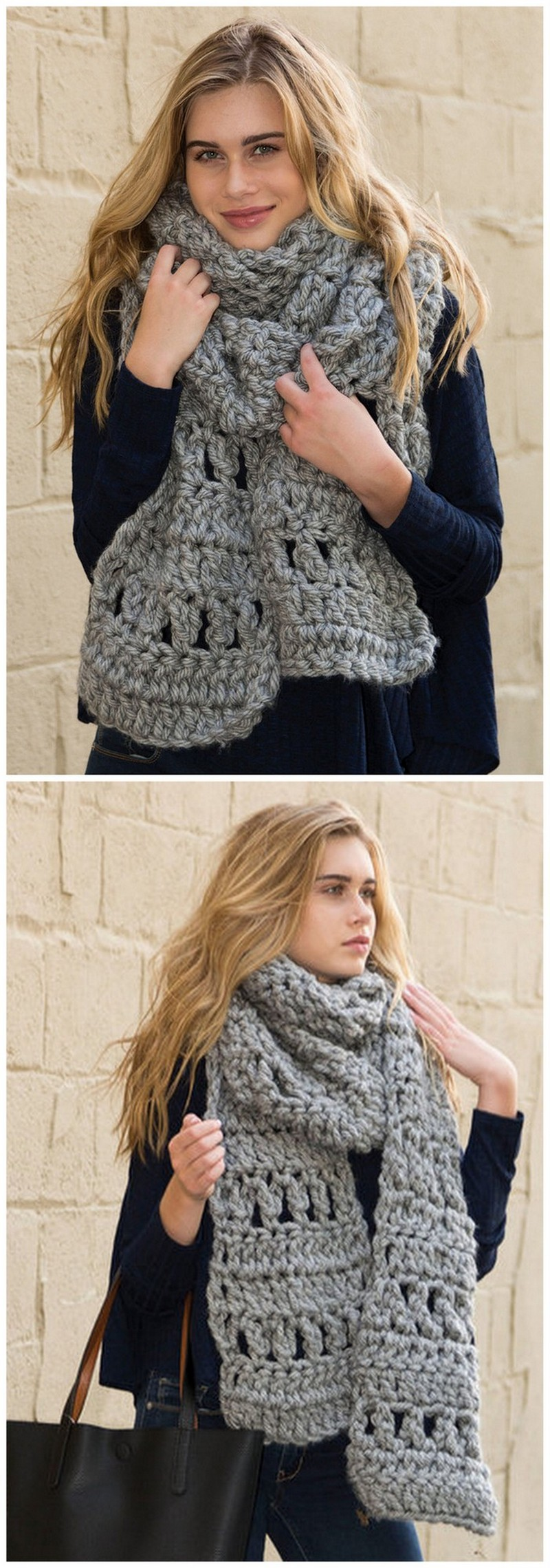Easy Crochet Scarf Pattern (19)