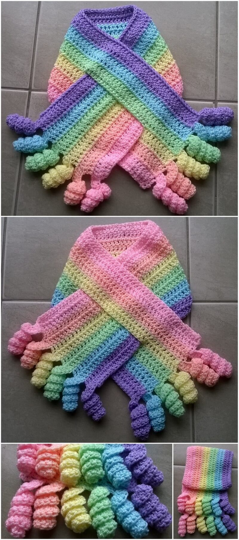 Easy Crochet Scarf Pattern (30)
