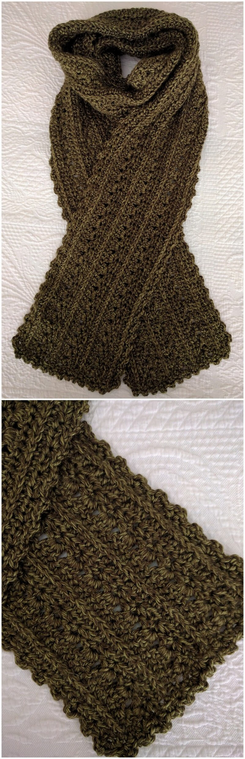 Easy Crochet Scarf Pattern (33)