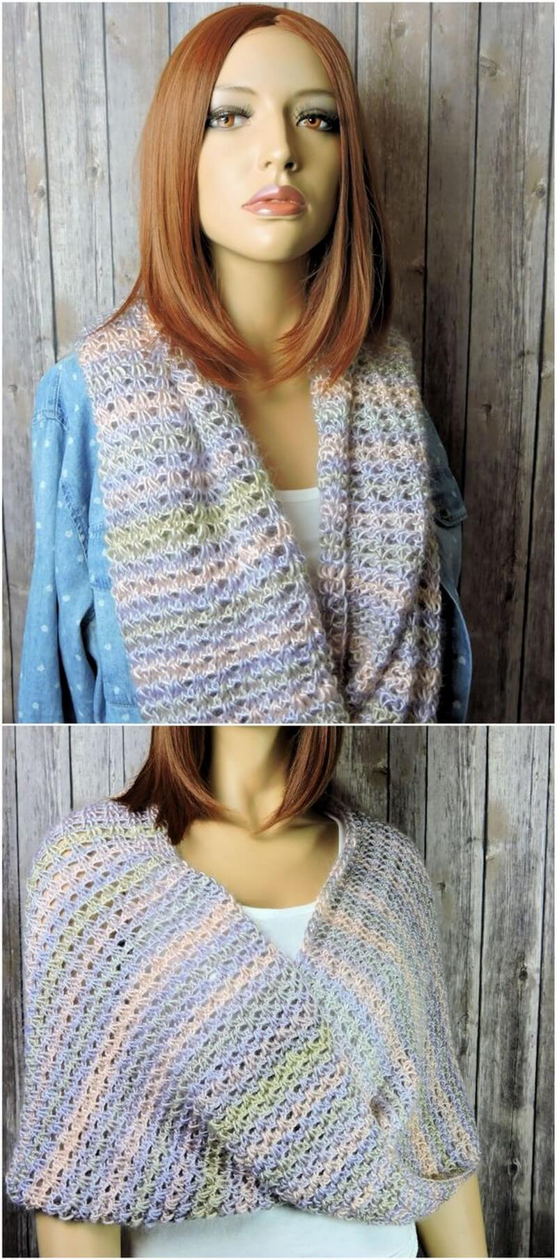 Easy Crochet Scarf Pattern (35)