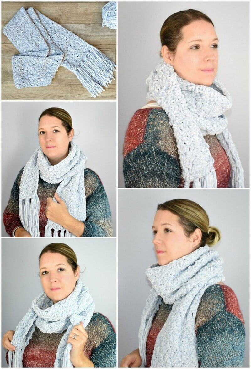Easy Crochet Scarf Pattern (37)
