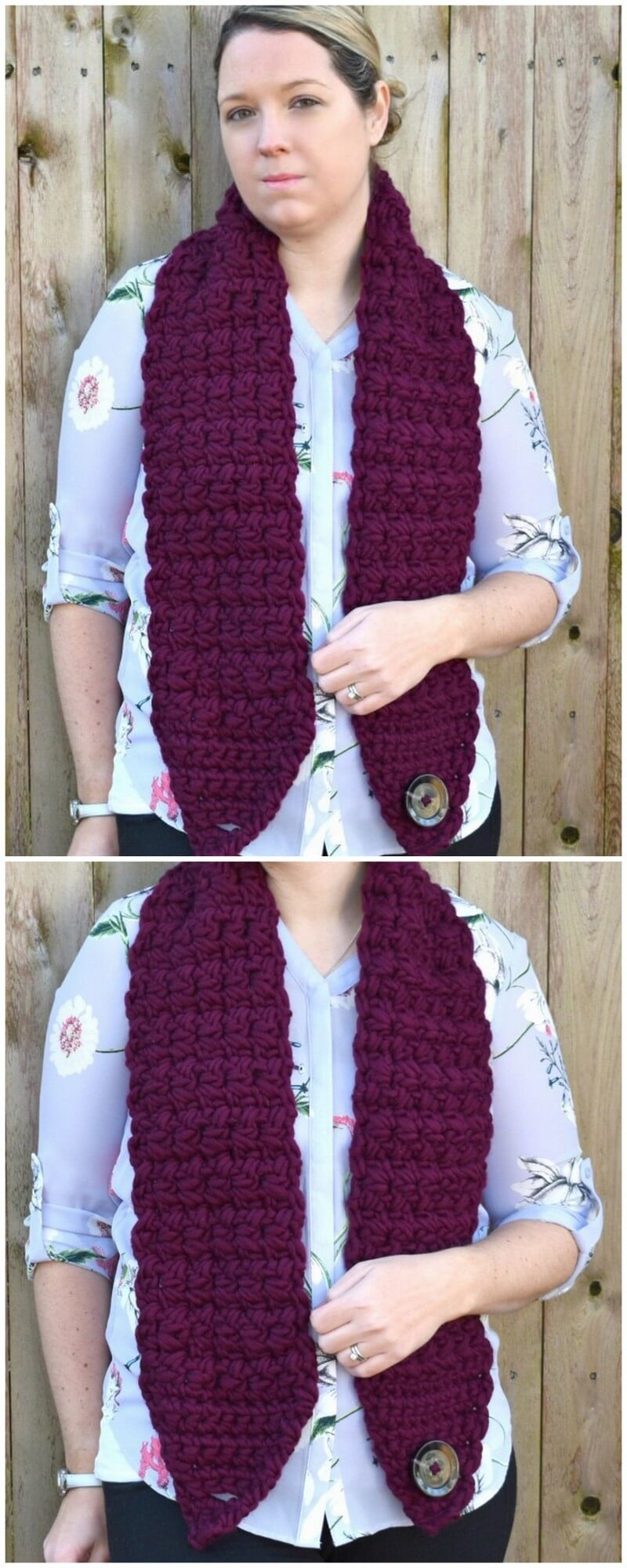 Easy Crochet Scarf Pattern (41)