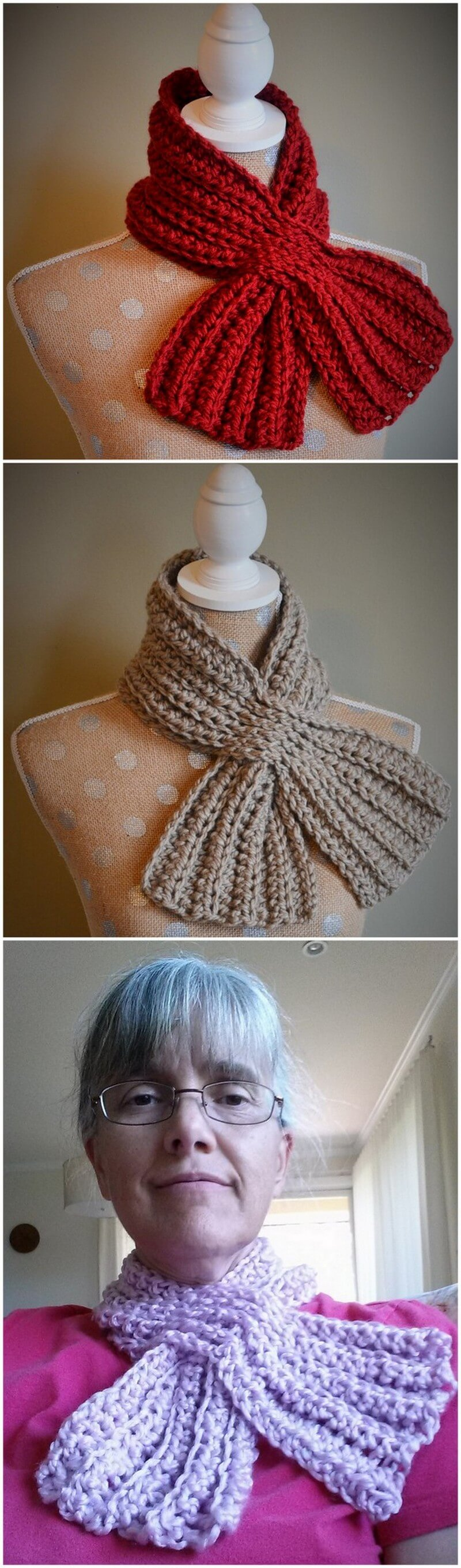 Easy Crochet Scarf Pattern (50)