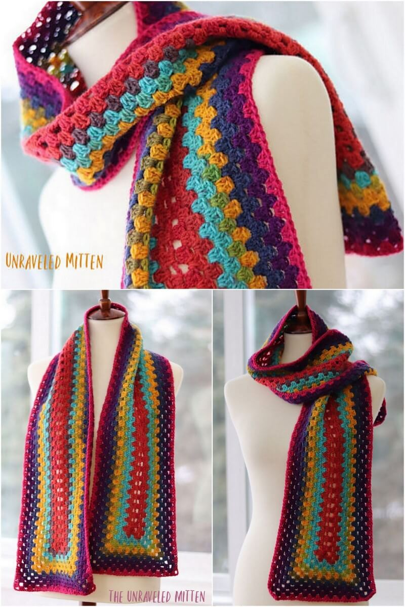 Easy Crochet Scarf Pattern (52)