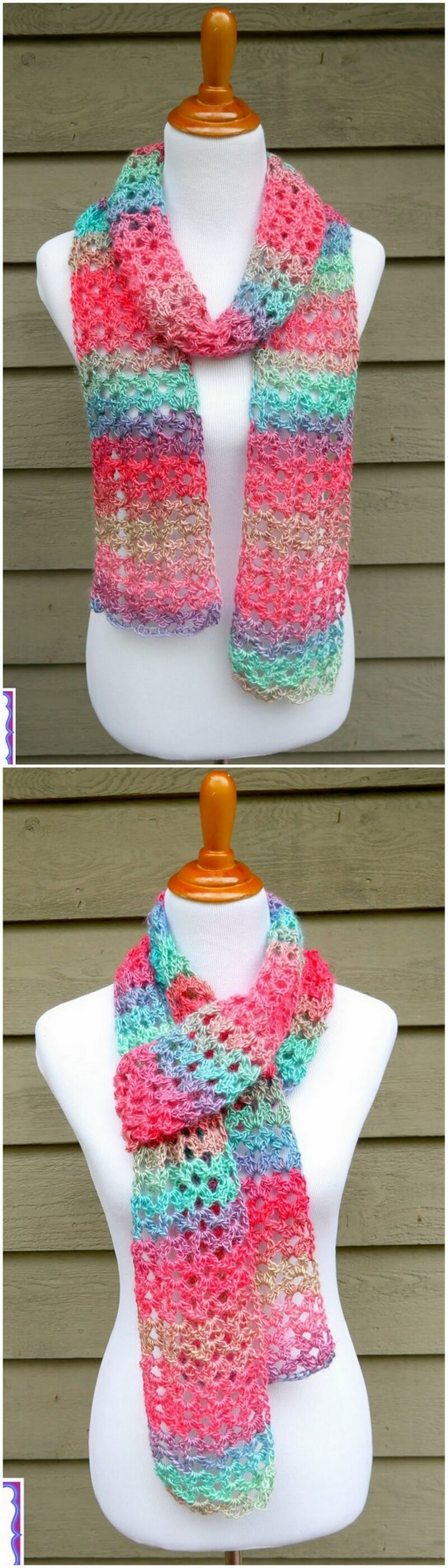 Easy Crochet Scarf Pattern (55)
