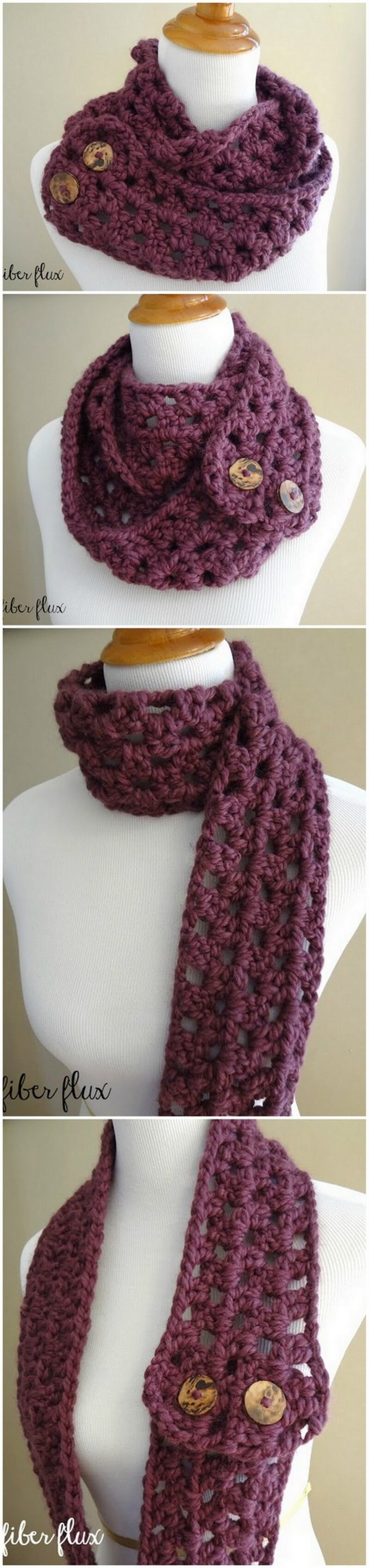 Easy Crochet Scarf Pattern (56)