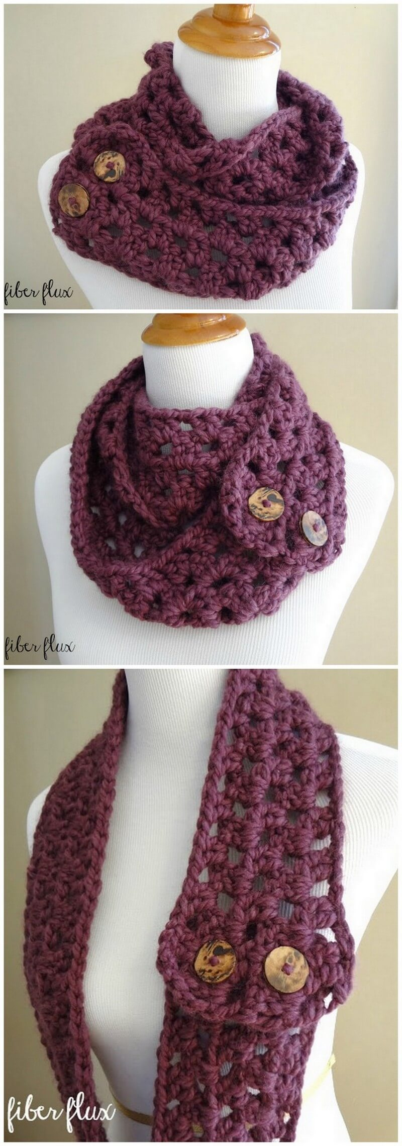 Easy Crochet Scarf Pattern (57)