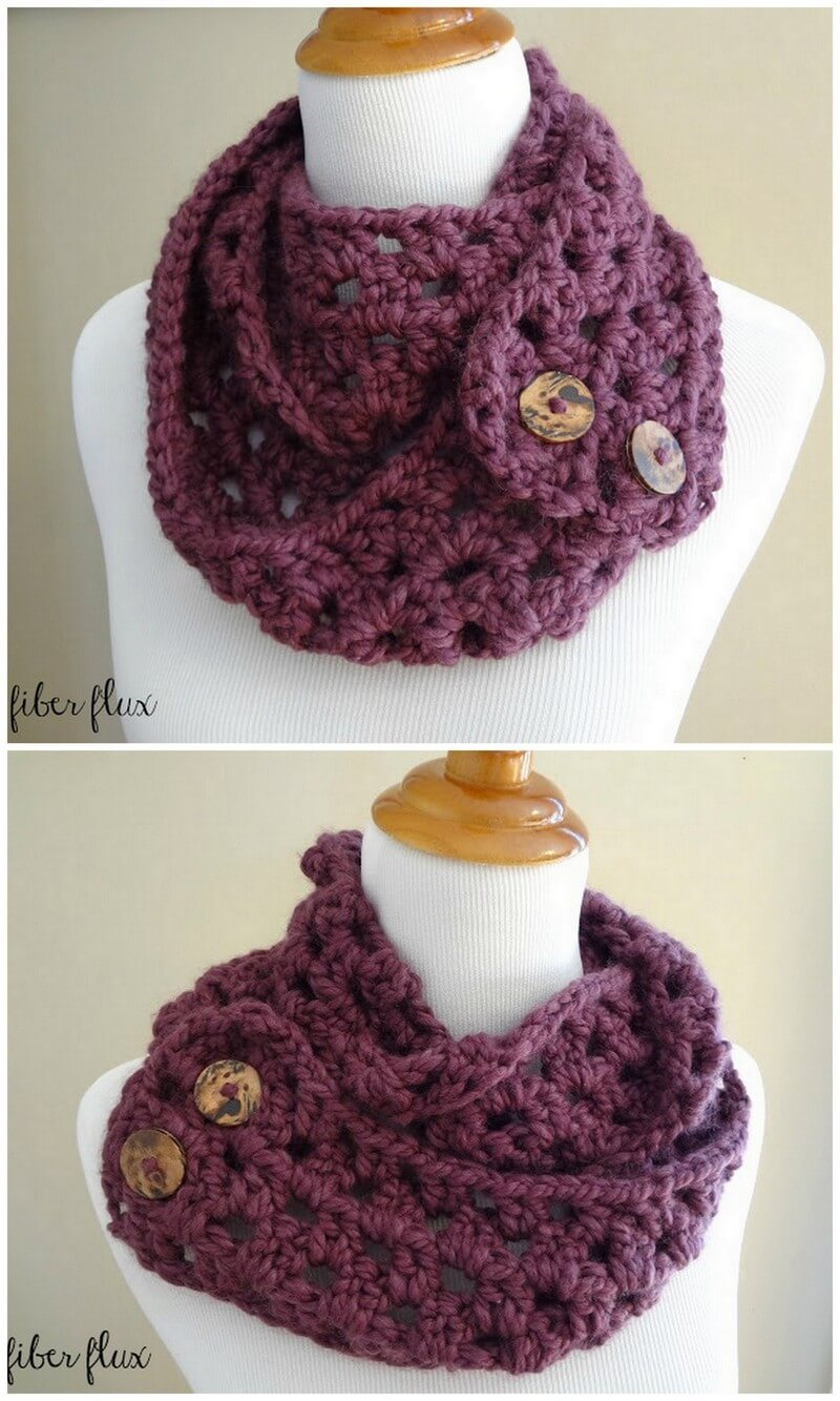 Easy Crochet Scarf Pattern (59)