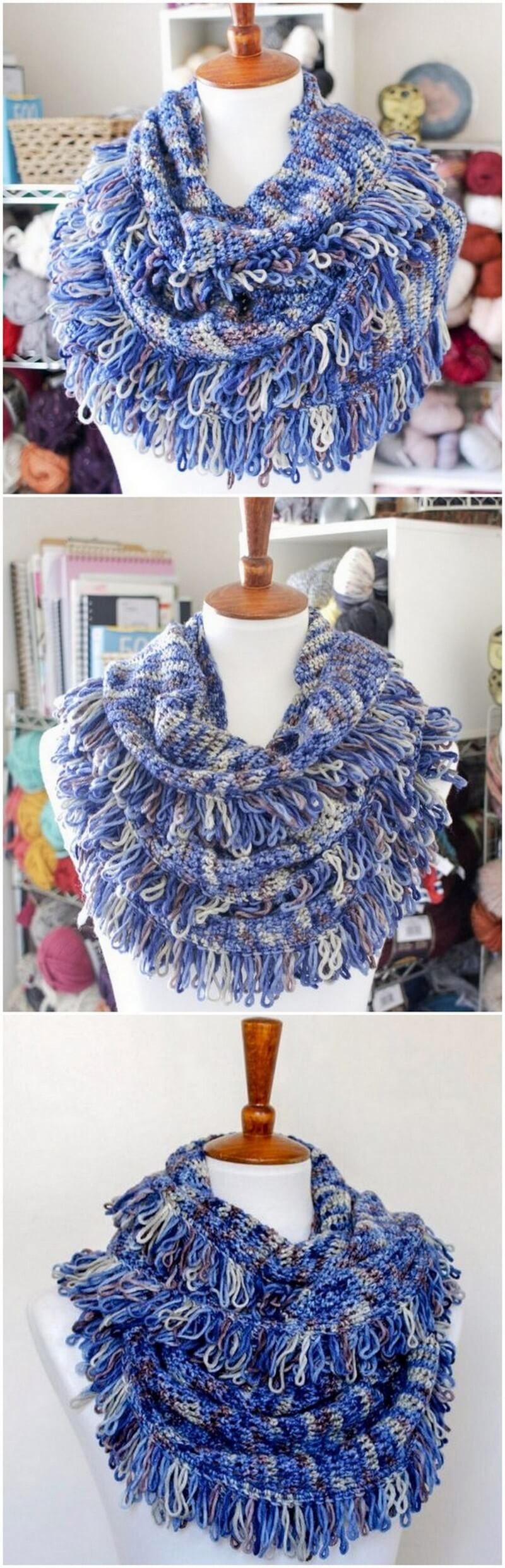 Easy Crochet Scarf Pattern (6)