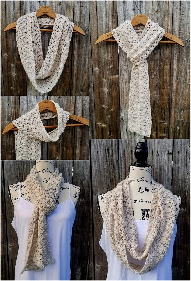 Easy Crochet Scarf Pattern (65)