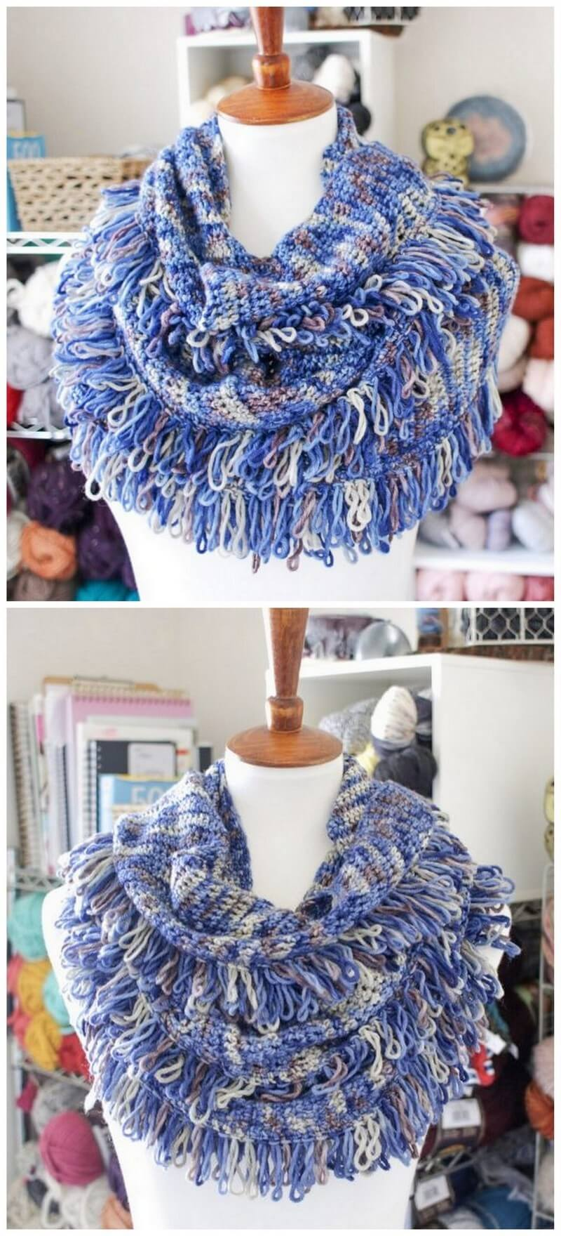 Easy Crochet Scarf Pattern (7)
